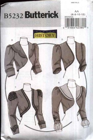 Butterick Sewing Pattern 5232 Misses Size 14-20 Victorian Lined ...