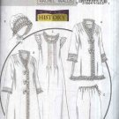 Butterick Sewing Pattern 5061 Misses Size 4-14 Historical Costume Sleepwear Gown Robe Hat