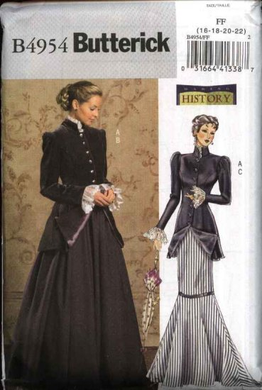 Butterick Sewing Pattern 4954 Misses Size 8-14 Early 20th Century Jacket Skirts Suit