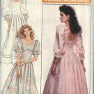 Butterick Sewing Pattern 5895 Misses Size 8 Formal Party Wedding Dress Full Skirt Puffy Sleeves