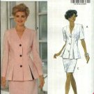 Butterick Sewing Pattern 5901 Misses Size 6-8-10 Easy Button Front Top Straight Skirt Suit