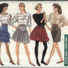 Butterick Sewing Pattern 5907 Misses Size 12-14-16 Easy Mini-Skirt Ruffled Yoked Bubble Straight