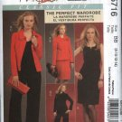 McCall's Sewing Pattern 5716 Misses 8-14 Classic Wardrobe Lined jacket Straight Dress Long Pants