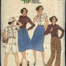 Retro Butterick Sewing Pattern 5979 Misses Size 14 Wardrobe Shirt A-Line Skirt Pants Shorts