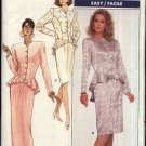 Retro Butterick Sewing Pattern 5994 Misses Size 8-10-12 Easy Formal Button Front Top Straight Skirt