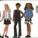Butterick Sewing Pattern 6734 Girls Size 12-14-16 Easy Wardrobe Pants Skirt Top Shell Shirt