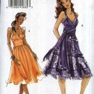 Vogue Sewing Pattern 8381 Misses Size 4-6-8-10 Easy Midriff Gathered Skirt Sleeveless Dress Sash