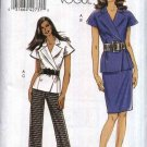 Vogue Sewing Pattern 8564 Misses Size 8-16 Easy Wrap Front Lined Jacket Straight Skirt Long Pants