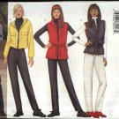 Butterick Sewing Pattern 6773 Misses Size 18-20-22 Easy Zipper Front Hooded Jacket Vest Pants