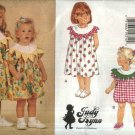 Butterick Sewing Pattern 3462 Girls Size 4-5-6 Easy Judy Lynn Flower Petal Collar Dress Romper