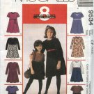 McCall's Sewing Pattern 9534 Girls Size 4-5-6 Easy Raised Waist Short Long Sleeves Dress Purse