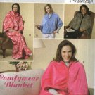 Butterick Sewing Pattern 5536 B5536 Misses All Sizes to 22 Easy Fleece Lounge Wrap Comfywear Blanket