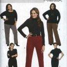 Butterick Sewing Pattern 5539 Womens Plus Size 18W-24W Easy Knit Straight Skirt Narrow Wide Pants