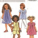 Butterick Sewing Pattern 4176 B4176 Girls Size 6-8 Easy Wardrobe Top Dress Pants Shorts