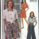 Butterick Sewing Pattern 6795 Misses Size 12-14-16 Easy Button Front Shirt Short Pants Gauchos