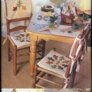 Butterick Sewing Pattern 6800 335 Autumn Fall Applique Leaves Table Decorations Chair Pads