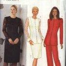 Butterick Sewing Pattern 6821 Misses Size 8-12 Classic Princess Seam Lace Trim Jacket Skirt Pants