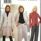Butterick Sewing Pattern 6825 Misses Size 6-8-10 Fitted Lined Jacket Flared Skirt Long Pants Suit