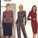 Butterick Sewing Pattern 6827 Misses Size 6-8-10 Easy Unlined jacket Straight Skirts Pants Suit