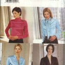 Butterick Sewing Pattern 6832 Misses Size 12-14-16 Easy Long Sleeve Blouses Collar Variations