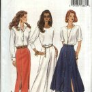 Butterick Sewing Pattern 6859 Misses Size 6-8-10 Easy Button Front Flared Straight Skirt Pants