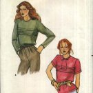 Butterick Sewing Pattern 6886 Misses Size 14 Blouse Top Back Buttons Short Long Sleeves Tucks