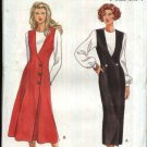Butterick Sewing Pattern 6898 Misses Size 6-12 Easy Straight or Flared Skirt Button Front Jumper