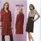Butterick Sewing Pattern 5523 B5523 Misses Size 8-14 Easy Pullover Knit Raised Waist Dress