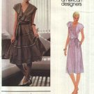 Vogue Sewing Pattern 2676 V2676 Misses Size 8 Carol Horn Pullover Dress Top Tiered Skirt