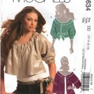 McCall's Sewing Pattern 5634 Misses Size 12-18 Unlined Cropped Loose Jackets Belt