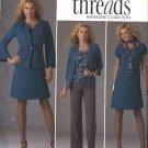 Simplicity Sewing Pattern 2474 Womans Plus Size 20W-28W Threads Wardrobe Dress Top Jackets Pants