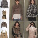Simplicity Sewing Pattern 2285 Misses Size 6-14 Button Front Cape Shearling Jacket Vest Belt