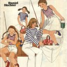 Butterick Sewing Pattern 5460 Girls Size 5 Wardrobe Long Pants Shorts A-Line Skirt Knit Tops