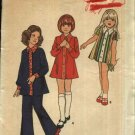Retro Butterick Sewing Pattern 6737 Girls Size 4 Long Short Sleeve A-Line Dress Tunic Pants