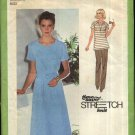 Simplicity Sewing Pattern 9077 Misses Size 14-16-18 Knit Raglan Sleeve A-Line Dress Top Pants