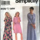 Simplicity Sewing Pattern 9340 Misses Size 6-16 Easy Long Short Raised Waist  Dress