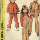McCall's Sewing Pattern 2998 Boys Girls Size 4 Hooded Jacket Overalls
