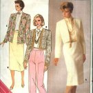 Butterick Sewing Pattern 3586 B3586 Misses Size 12-16 Easy Cardigan Jacket Straight Skirt Pants