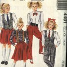 McCall's Sewing Pattern 4491 M4491 Girls Size 7-10 Easy Wardrobe Vest Blouse Skirt Pants