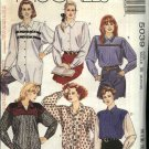McCall's Sewing Pattern 5039 Misses Size 8-10-12 Easy Long Sleeved Button Front Shirt Blouse Top