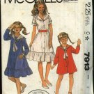 McCall's Sewing Pattern 7913 Girls Size 8 Laura Ashley Button Front Flared Dress Sailor Collar