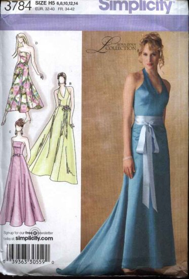 Simplicity Sewing Pattern 3784 Misses Size 6-14 Lined Strapless ...