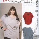 McCall's Sewing Pattern 6204 Womens Plus Size 18W-24W Easy  Pullover Loose Fitting Tunic Top