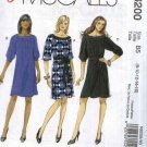 McCall's Sewing Pattern 6200 Misses Size 8-16 Easy Pullover Loose Fitting Knit Dresses Belt