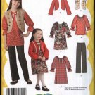 Simplicity Sewing Pattern 2321 Girls Size 3-6 Lizzie McGuire  Wardrobe Dress Pants Top Jacket Vest