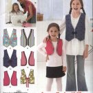 Simplicity Sewing Pattern 2293 Girls Size 3-6 Learn to Sew Lined Vest Pattern with Trim Options
