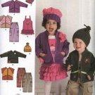 Simplicity Sewing Pattern 2292 Girls Boys Size 1/2-4 Winter Wardrobe Jacket Pants Jumper Hat Vest