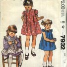 McCall's Sewing Pattern 7932 Girls Size 4 Pullover Dress Pinafore Sundress Embroidered Yoke