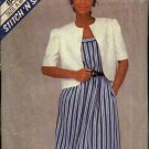 McCall's Sewing Pattern 8486 Misses Size 6-10 Sundress Summer Sleeveless Dress Jacket
