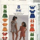 McCall's Sewing Pattern 8779 Girls Size 10-14 Easy Summer Suntops Tops Shorts Variations